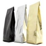 Coffee Bags - Center-Seal Gusseted Foil Coffee Bag 2oz