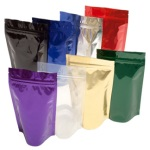 Foil Bags - Stand Up Foil Pouches 12oz No Valve + Zip & Easy Tear Line
